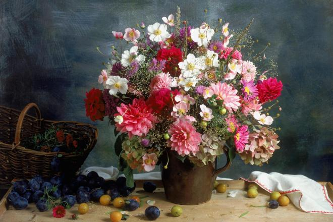 tranh ve lang hoa
