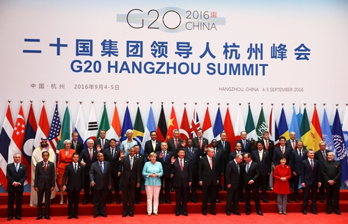 Leaders pose for pictures during the G20 Summit in Hangzhou, Zhejiang province, China September 4, 2016. REUTERS/Damir Sagolj